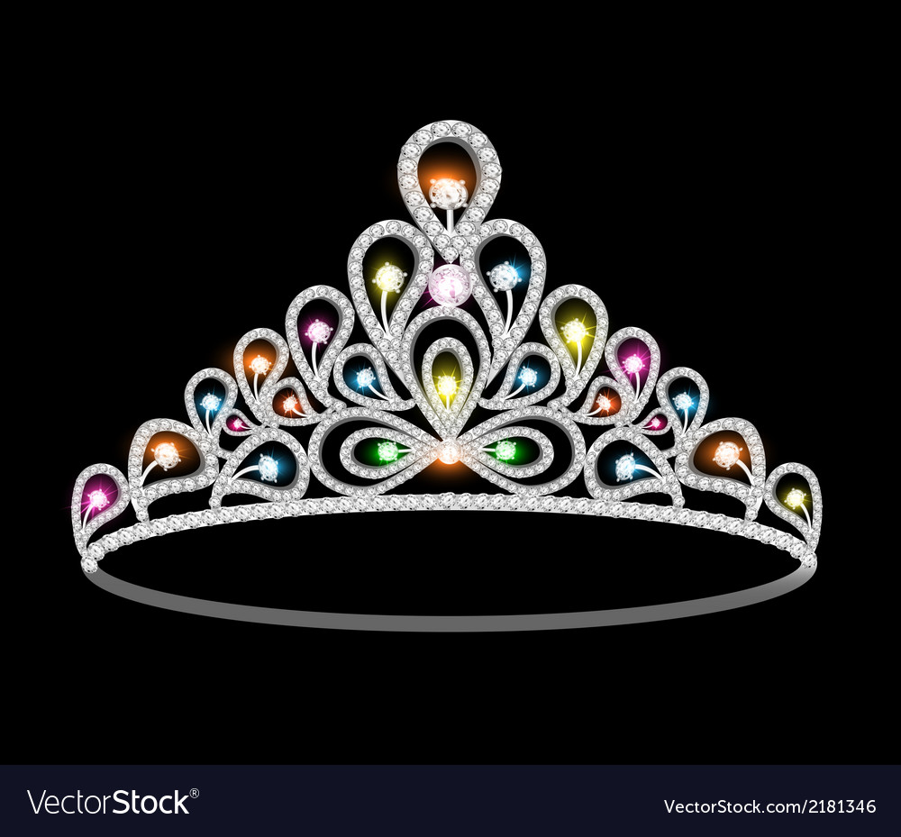 Crown tiara women with glittering vector | Price: 1 Credit (USD $1)