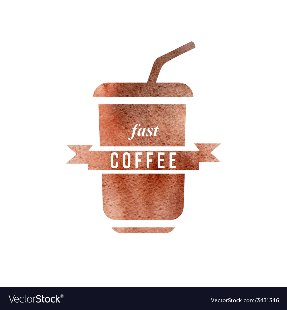 Fast coffee logo vector | Price: 1 Credit (USD $1)
