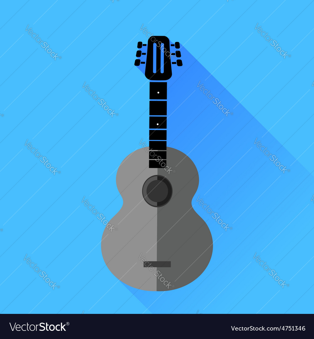 Guitar silhouette vector | Price: 1 Credit (USD $1)