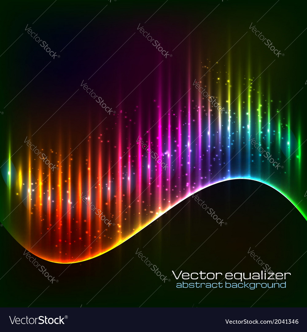 Neon equalizer wave vector   Price: 1 Credit (USD $1)