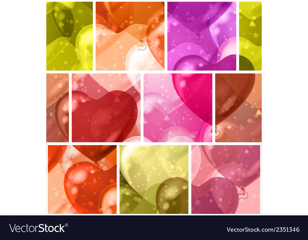 Seamless background with balloon hearts vector | Price: 1 Credit (USD $1)