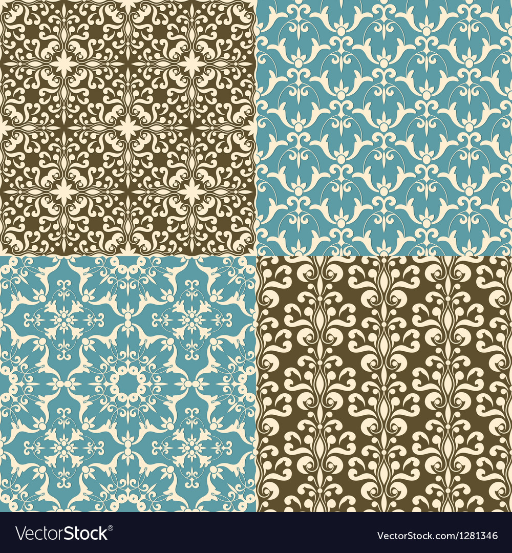 Seamless floral paterns vector | Price: 1 Credit (USD $1)