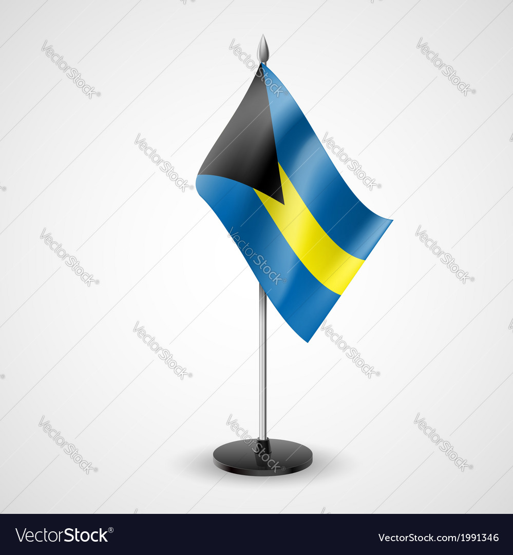 Table flag of bahamas vector | Price: 1 Credit (USD $1)