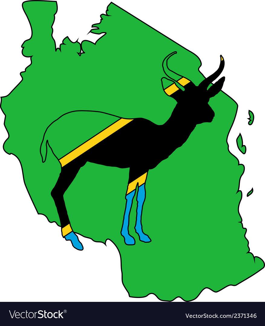 Tanzania antelope vector | Price: 1 Credit (USD $1)