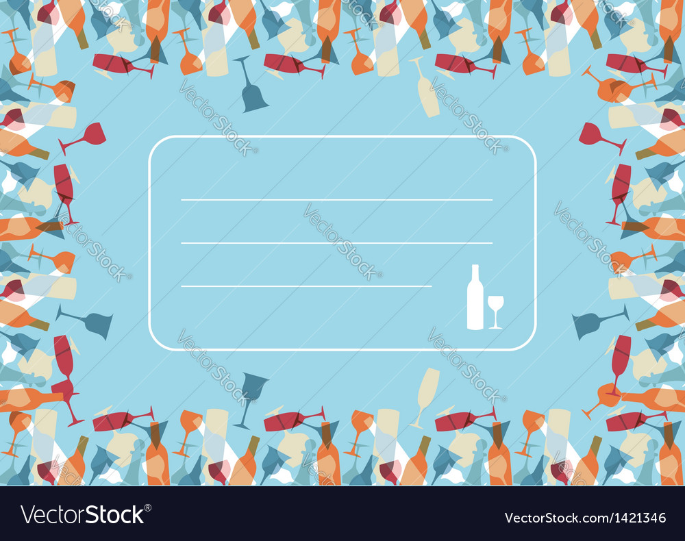 Transparency cocktail menu design background vector | Price: 1 Credit (USD $1)