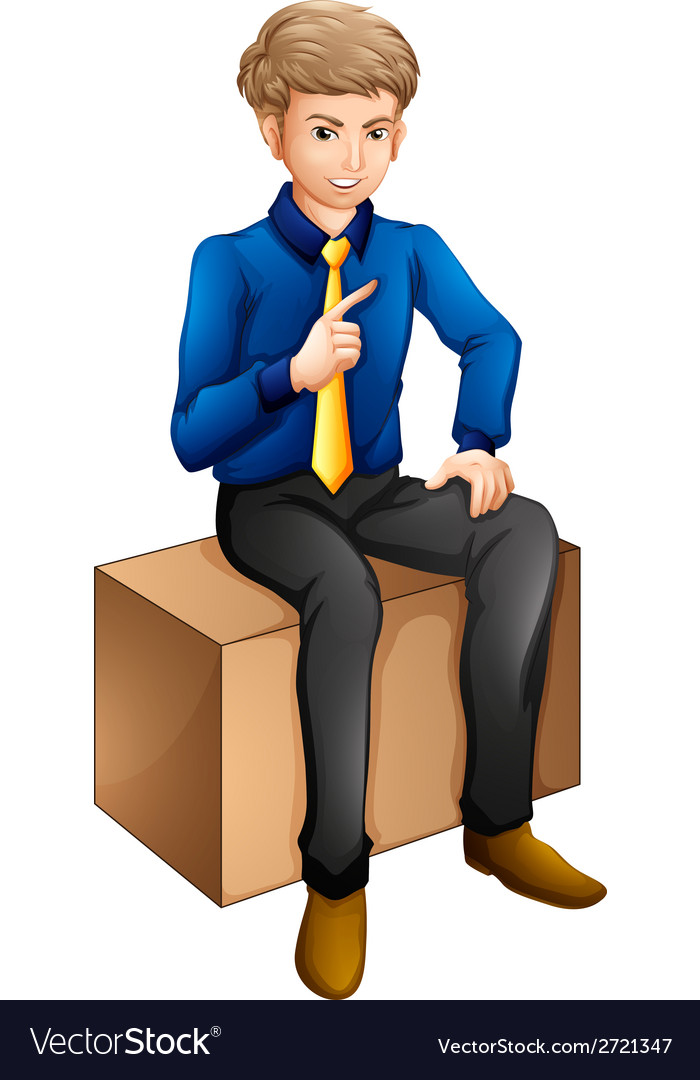 A man sitting vector   Price: 1 Credit (USD $1)