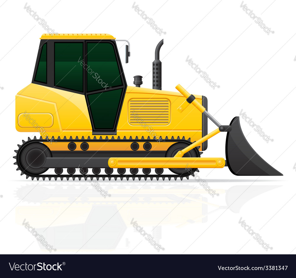 Caterpillar tractor 02 vector | Price: 3 Credit (USD $3)
