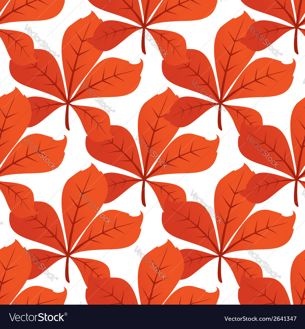 Colorful autumn leaf background seamless pattern vector | Price: 1 Credit (USD $1)