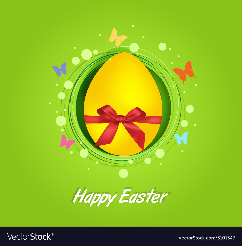 Easter yellow egg gift card vector | Price: 1 Credit (USD $1)
