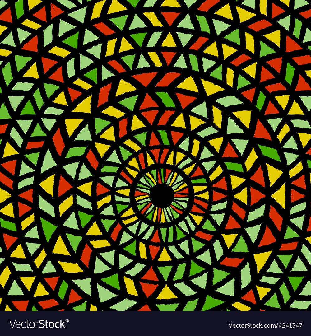 Ethnic traditional colorful bright round pattern vector | Price: 1 Credit (USD $1)