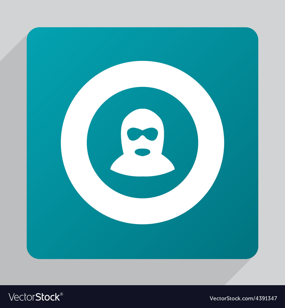 Flat offender icon vector | Price: 1 Credit (USD $1)