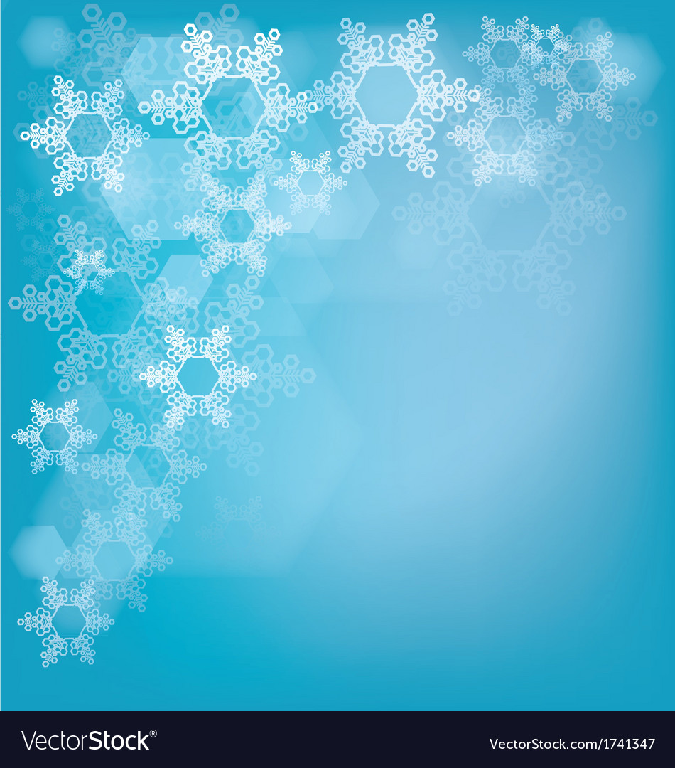 Frosted glass background with snowflakes vector | Price: 1 Credit (USD $1)