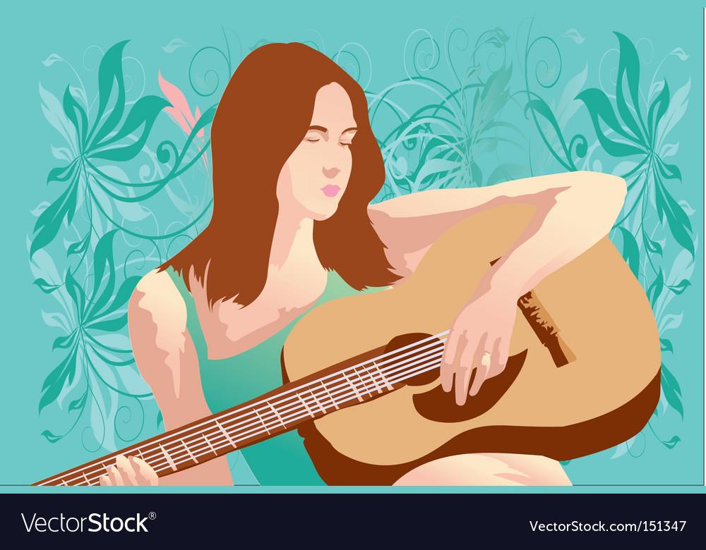Music woman vector   Price: 1 Credit (USD $1)