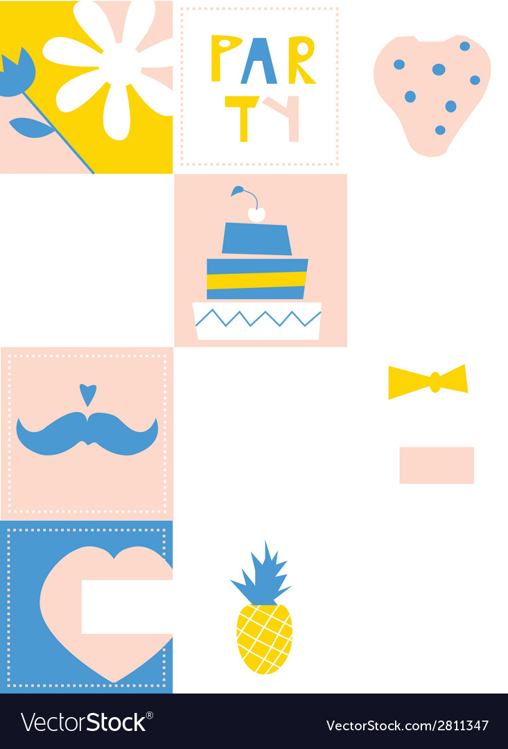 Party design elements - set of funny icons vector | Price: 1 Credit (USD $1)