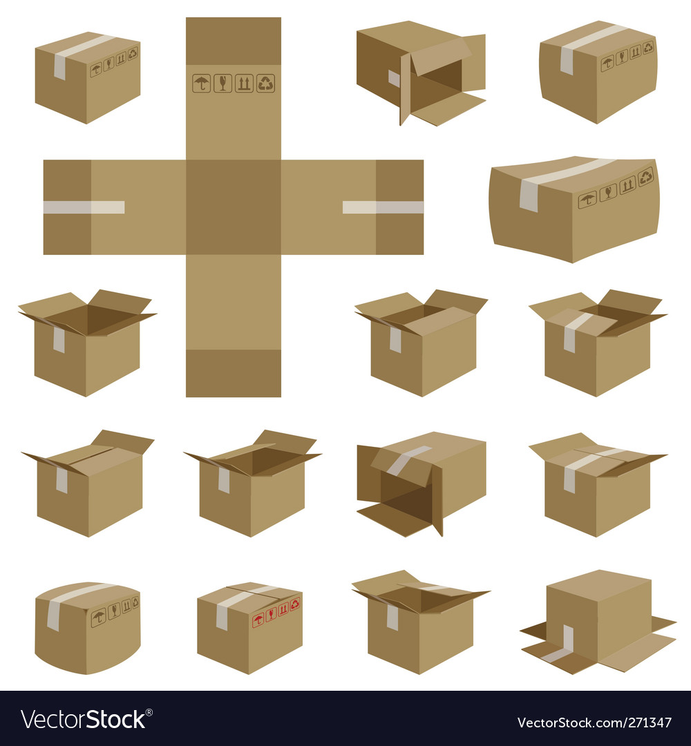 Shipping box vector | Price: 1 Credit (USD $1)