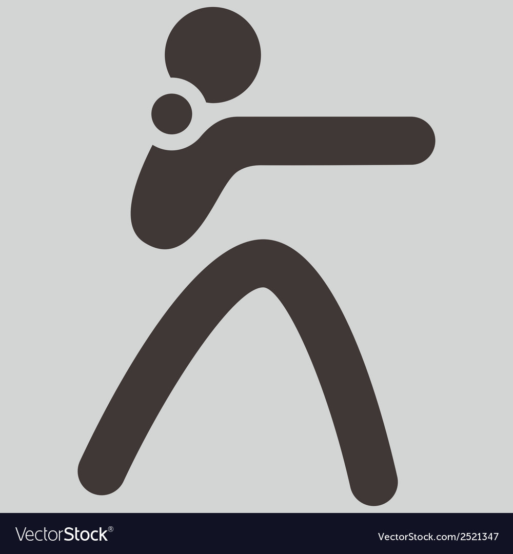 Shot put icon vector | Price: 1 Credit (USD $1)