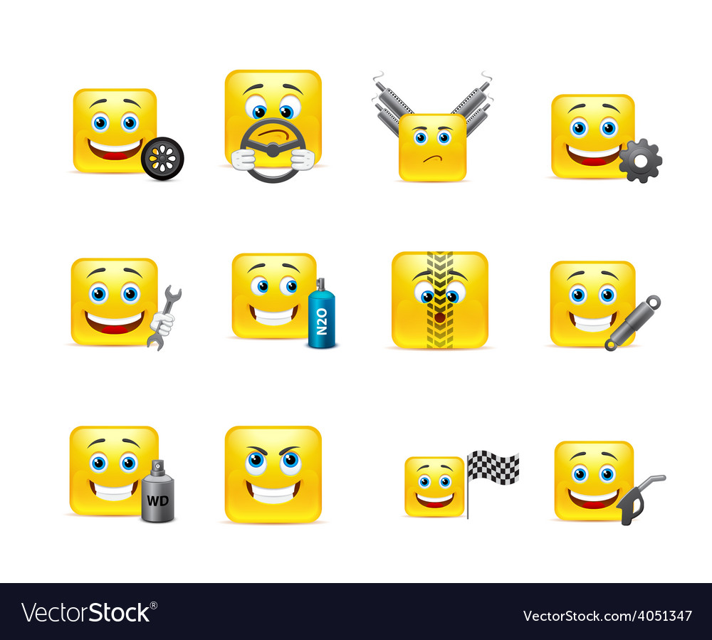 Smilies racers vector | Price: 1 Credit (USD $1)
