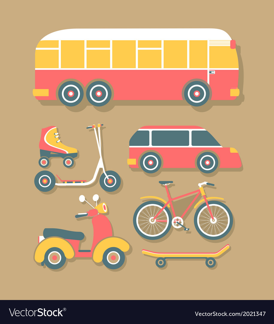 Transport for cities vector | Price: 1 Credit (USD $1)