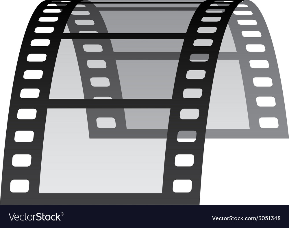 3d film strip vector | Price: 1 Credit (USD $1)
