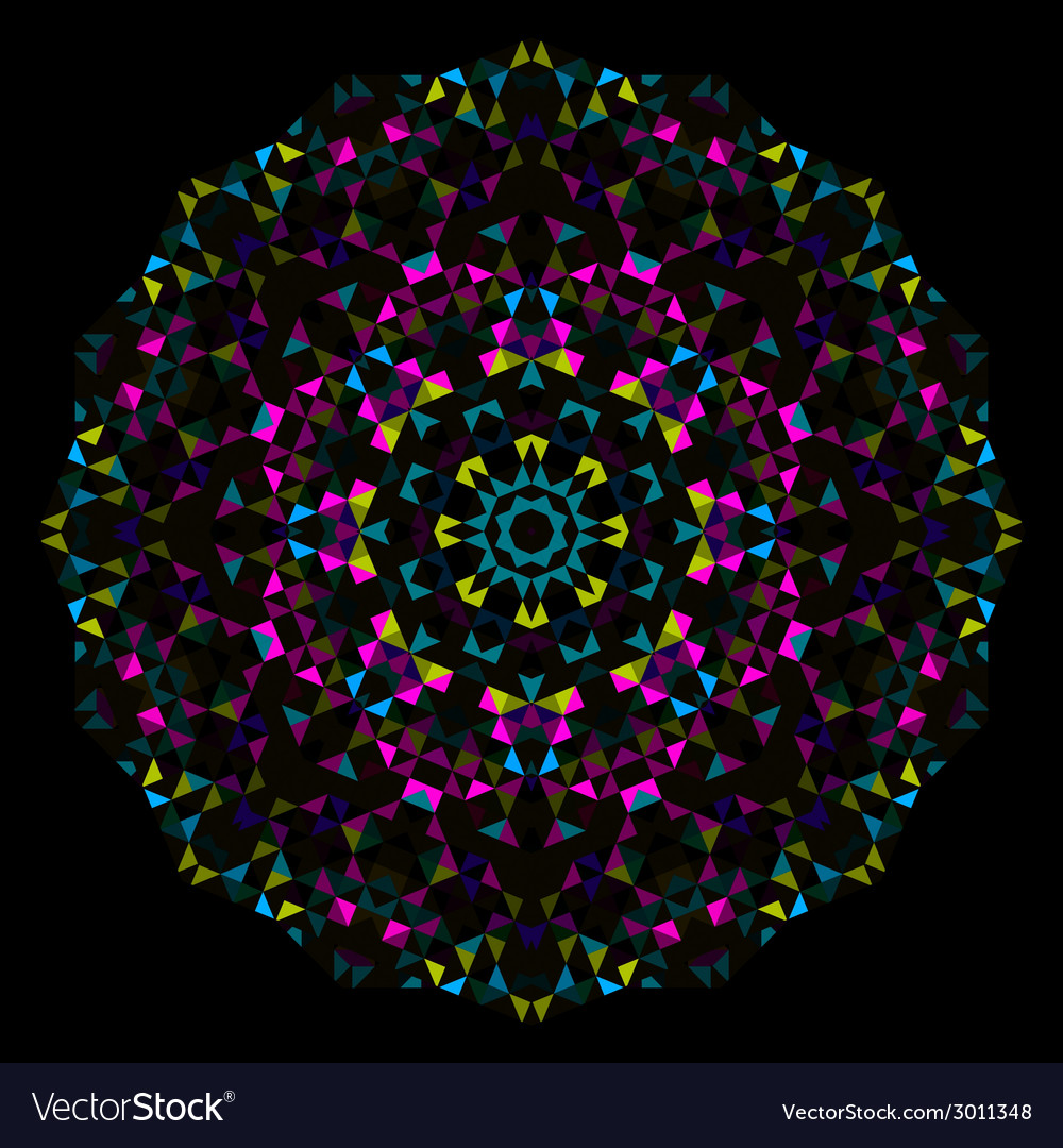 Abstract geometrical flower vector | Price: 1 Credit (USD $1)