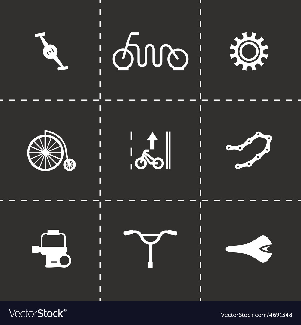 Bicycle icon set vector | Price: 1 Credit (USD $1)