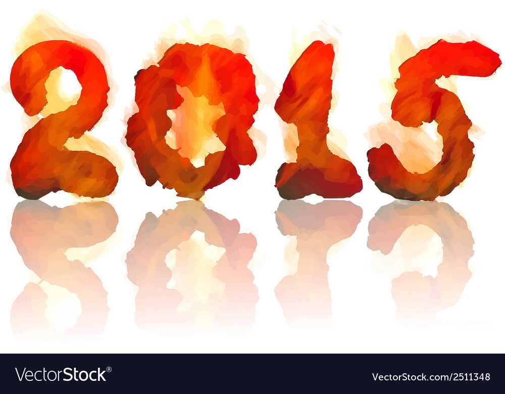 Burning 2015 year vector | Price: 1 Credit (USD $1)