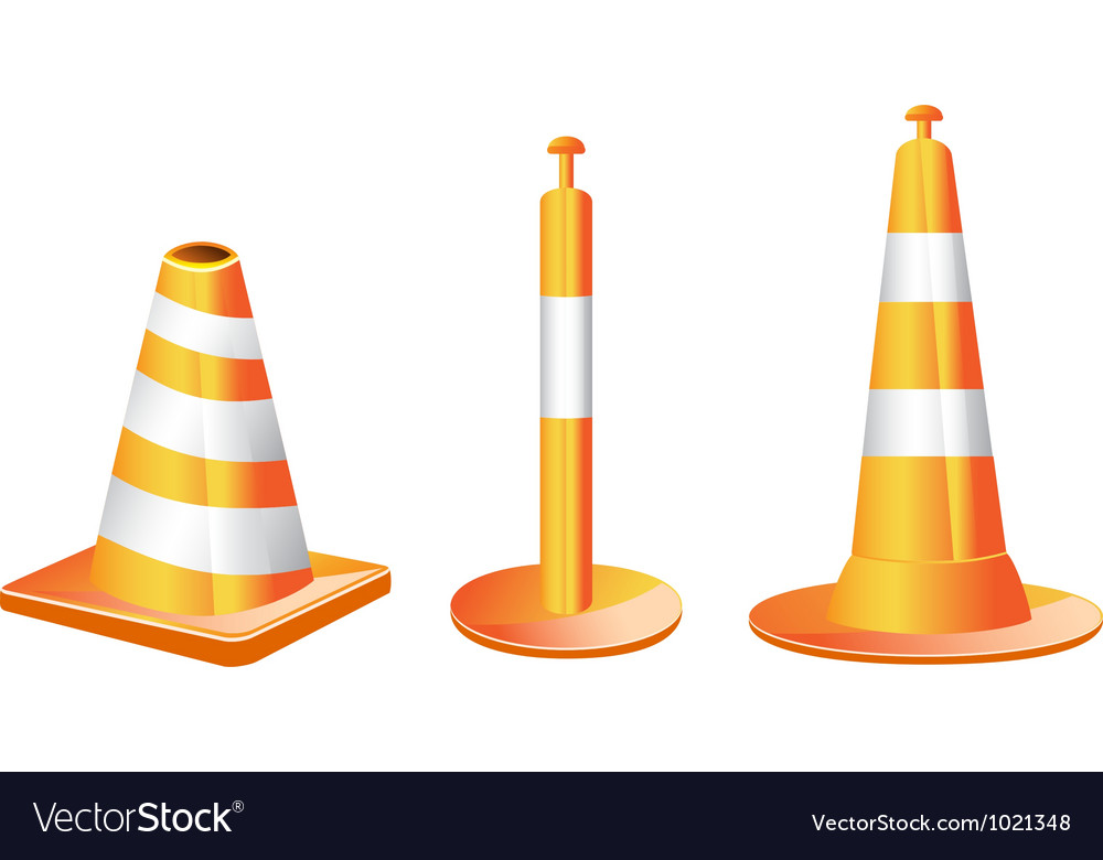 Different type of traffic cones vector | Price: 1 Credit (USD $1)