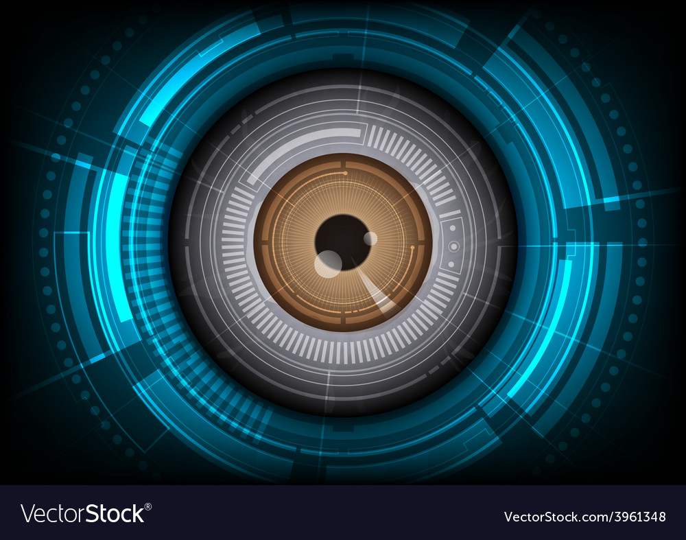 Eyeball with hitech background vector | Price: 1 Credit (USD $1)