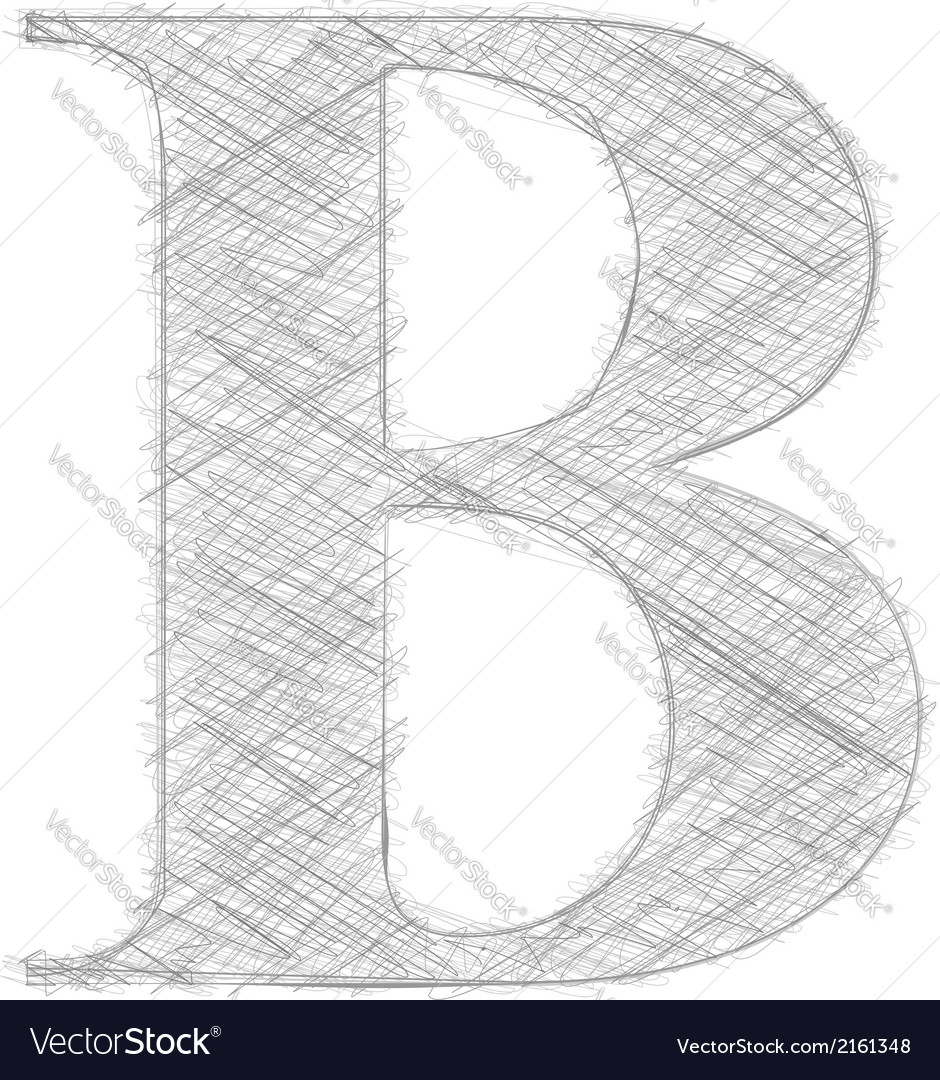 Freehand typography letter b vector | Price: 1 Credit (USD $1)
