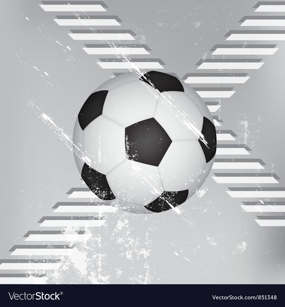 Grunge soccer ball background vector   Price: 1 Credit (USD $1)