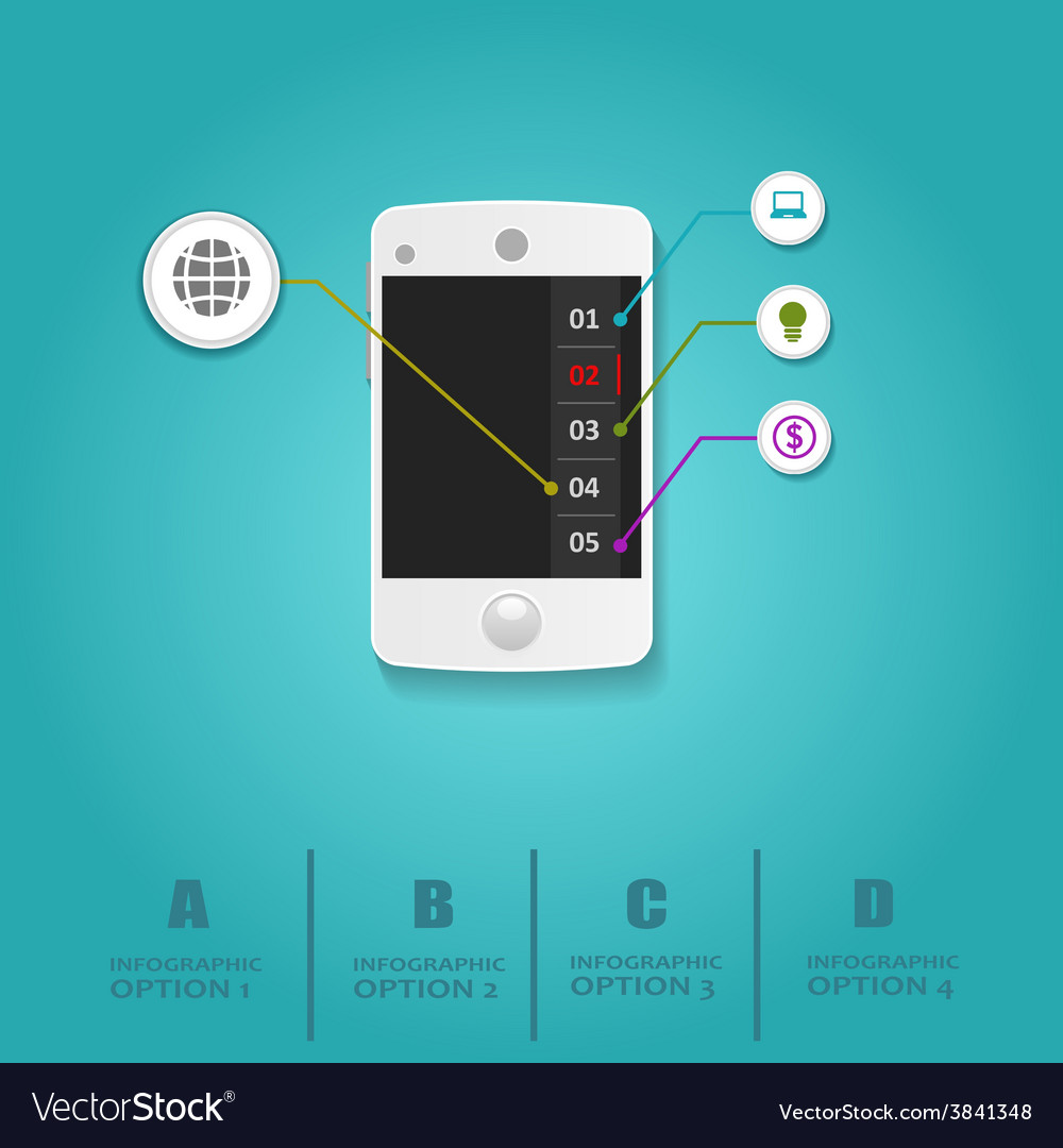 Infographics mobile phone data paper style vector   Price: 1 Credit (USD $1)