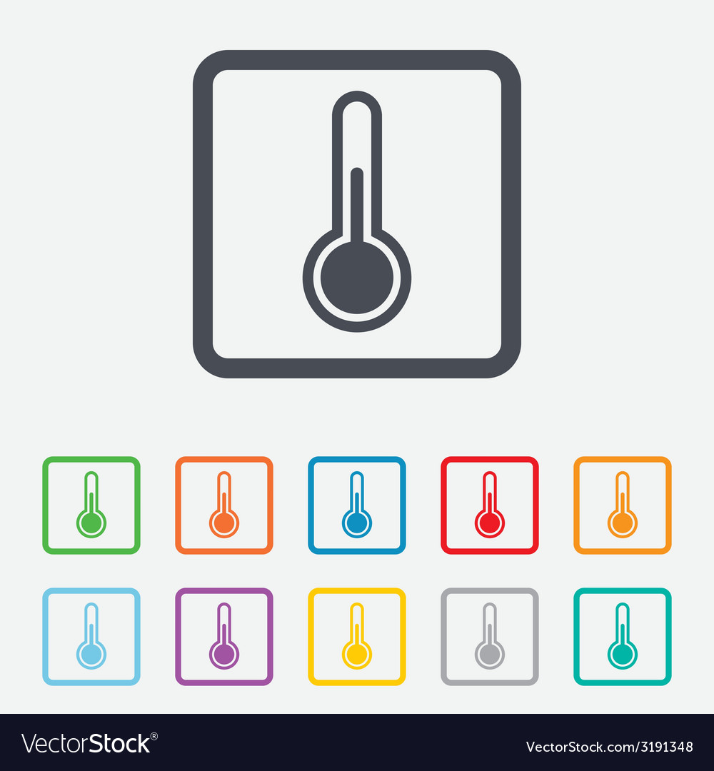Thermometer sign icon temperature symbol vector | Price: 1 Credit (USD $1)