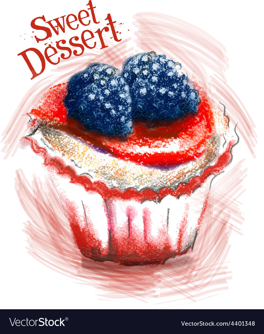 Sweet dessert logo design template cake vector | Price: 3 Credit (USD $3)