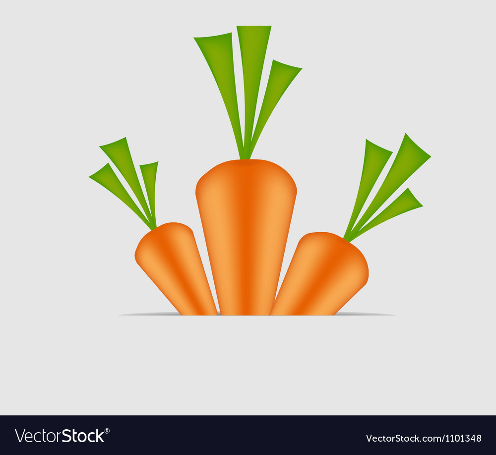 Sweet tasty carrot vector | Price: 1 Credit (USD $1)