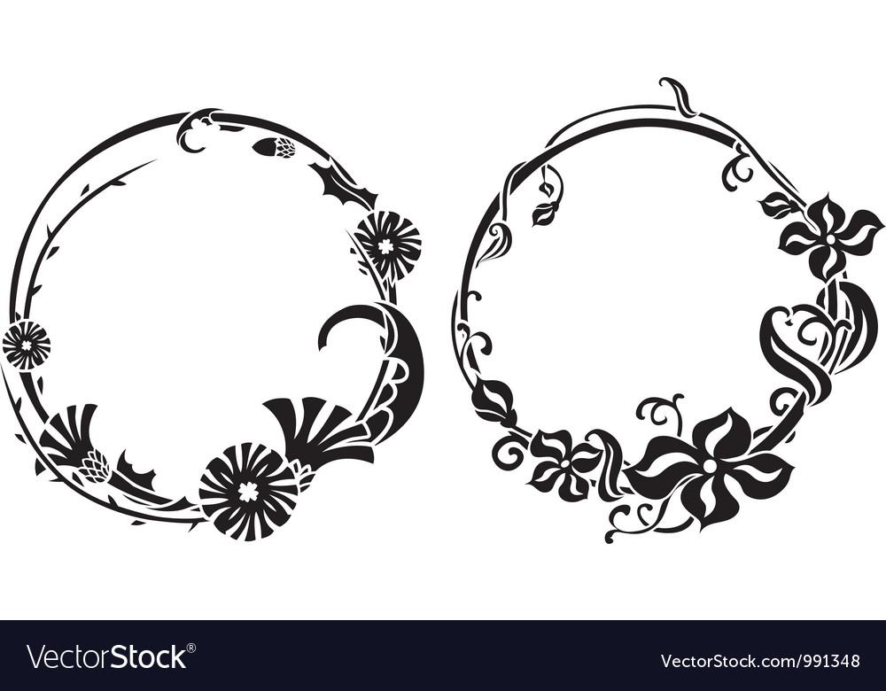 Two black wreath vector | Price: 1 Credit (USD $1)