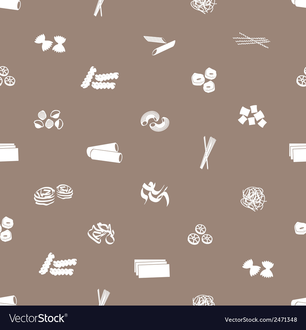 Types of pasta food pattern eps10 vector | Price: 1 Credit (USD $1)