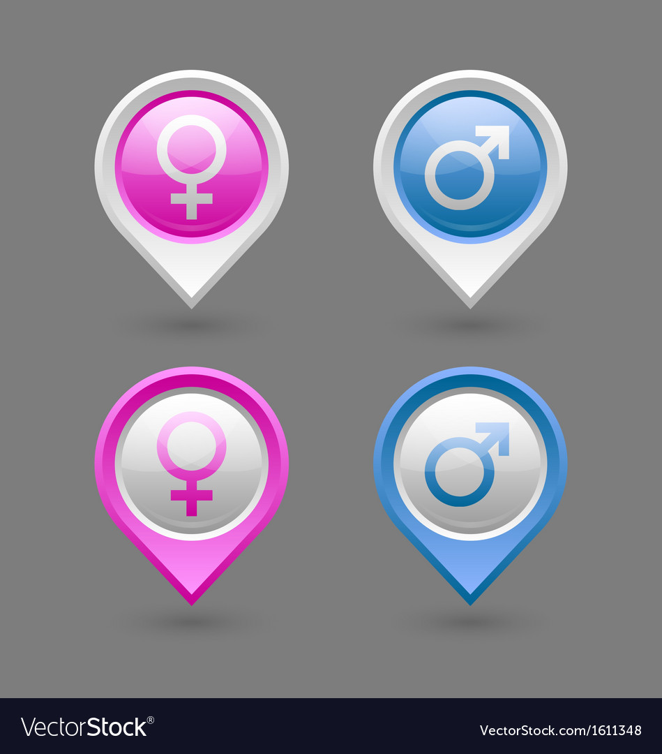Venus and mars female and male symbols vector | Price: 1 Credit (USD $1)