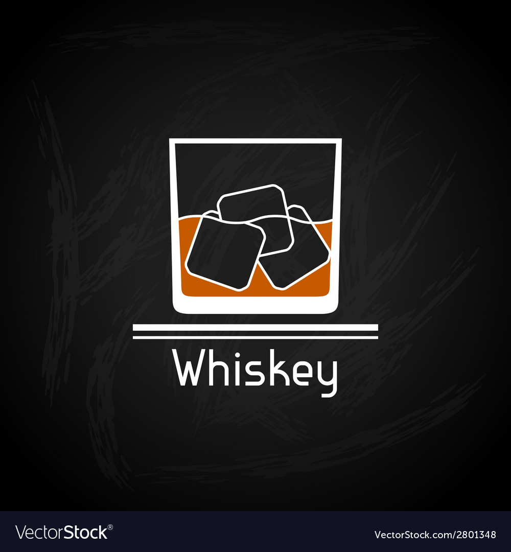 With glass of whiskey for menu cover vector | Price: 1 Credit (USD $1)