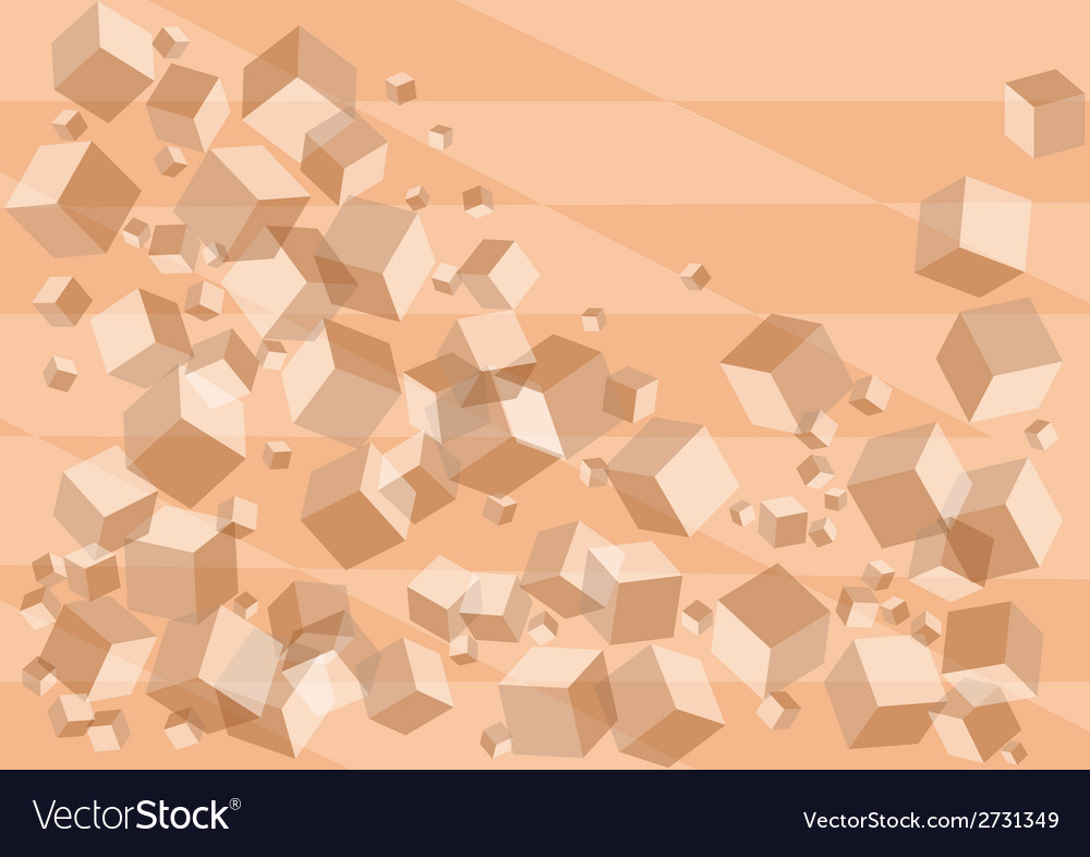 Abstract background with pink cubes vector   Price: 1 Credit (USD $1)
