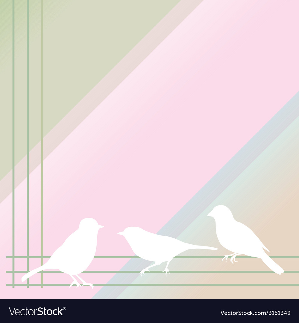 Abstract birds on a color background vector | Price: 1 Credit (USD $1)