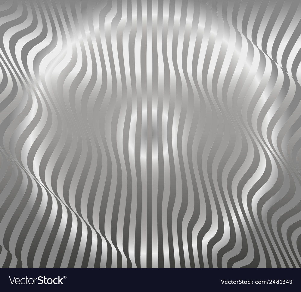 Aluminum abstract silver stripe pattern background vector | Price: 1 Credit (USD $1)