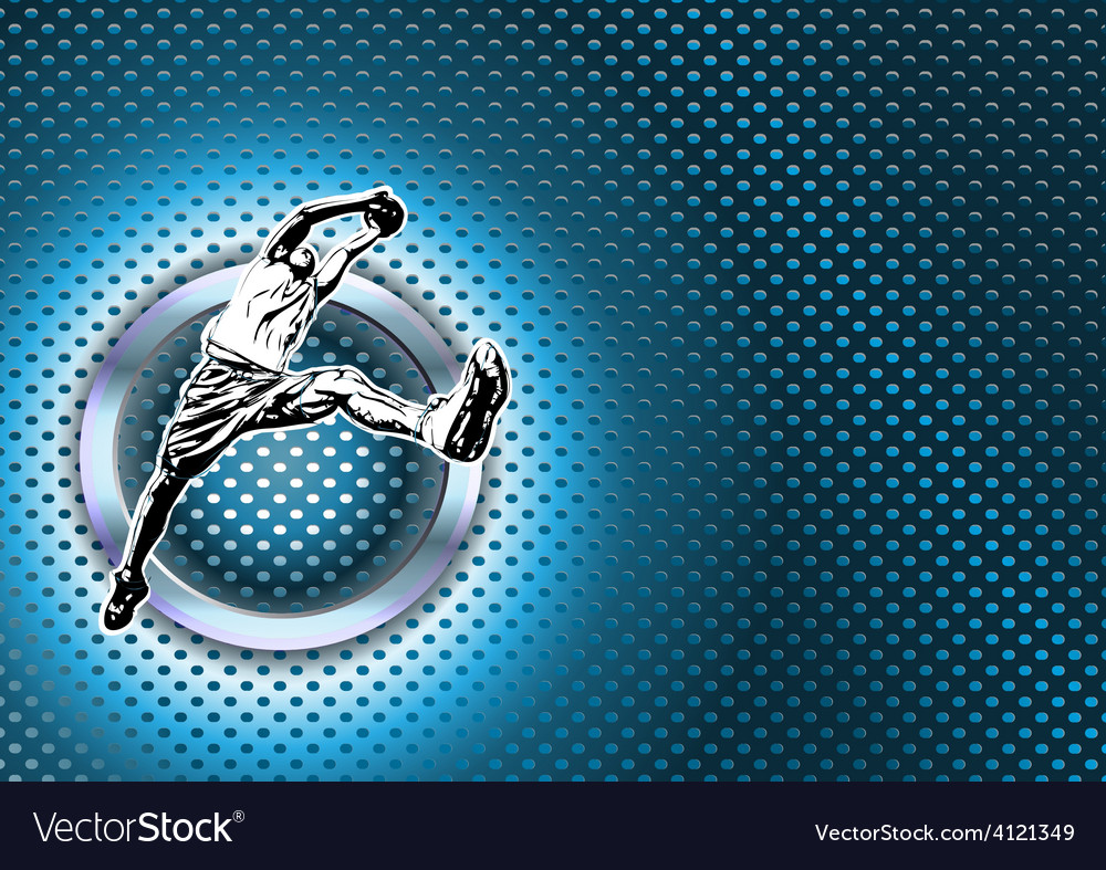 Chrome basketball poster background vector | Price: 1 Credit (USD $1)