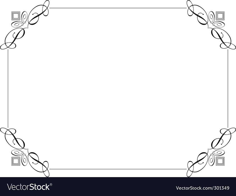 Decorative border vector | Price: 1 Credit (USD $1)
