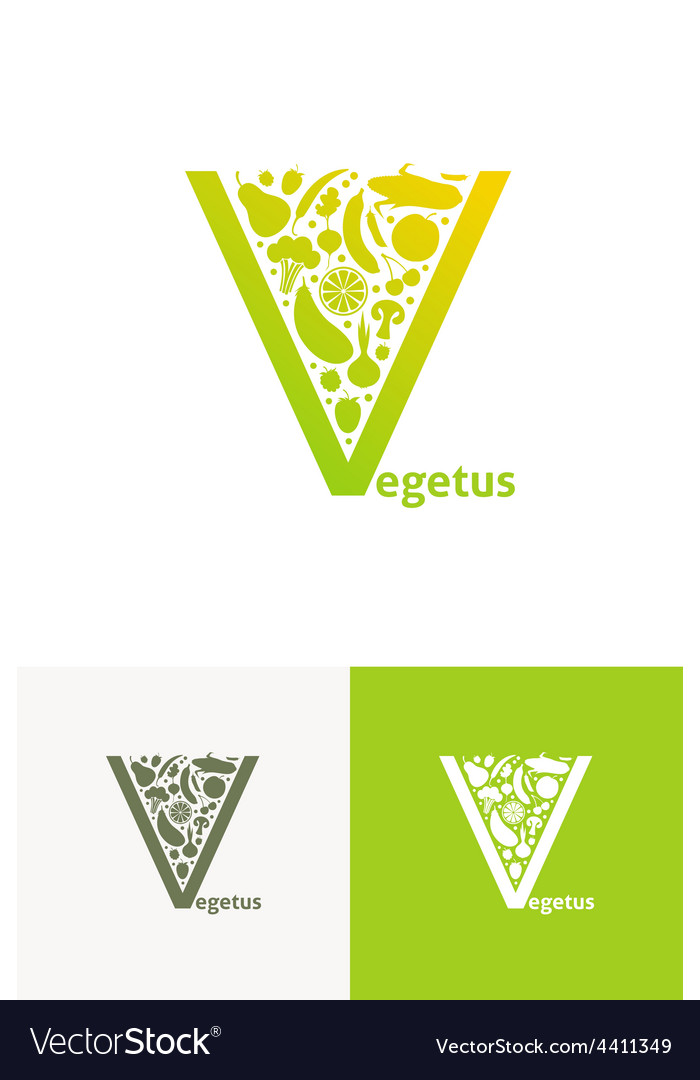 Emblems with fruit and vegetables vector | Price: 1 Credit (USD $1)