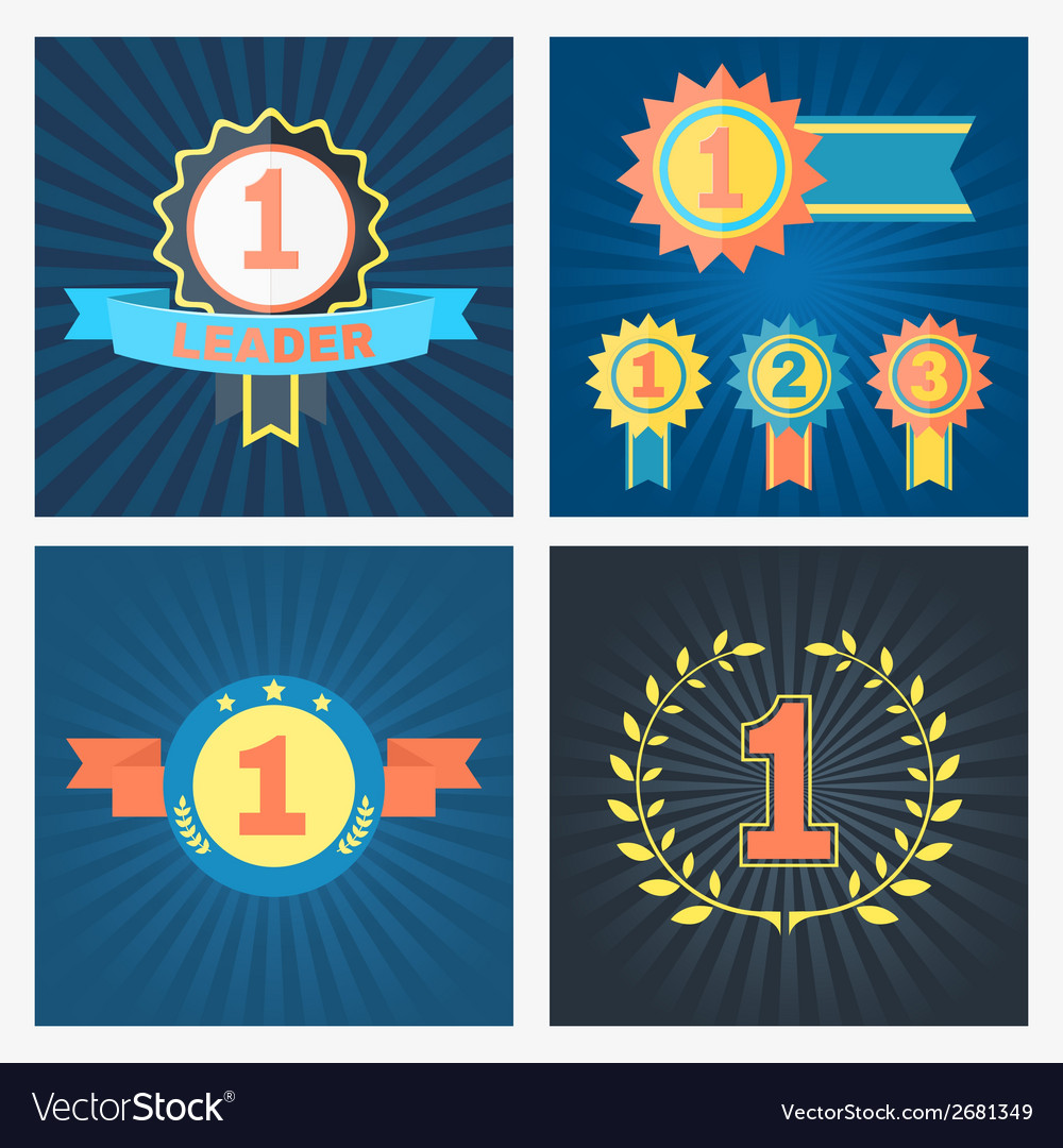 First second and third placed awards vector | Price: 1 Credit (USD $1)
