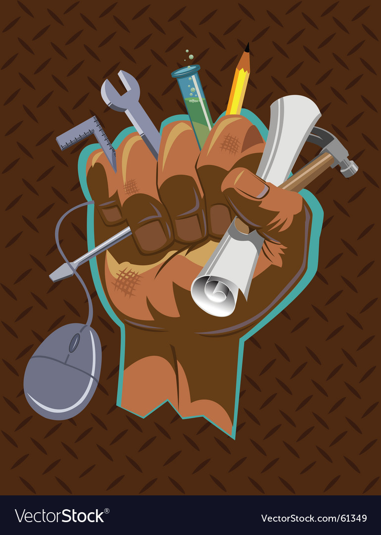 Fist full of stuff vector