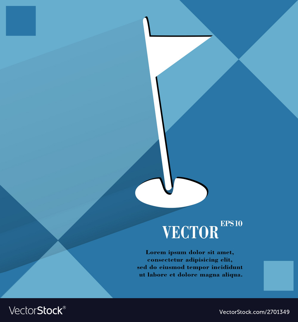 Golf flag flat modern web design on a flat vector | Price: 1 Credit (USD $1)