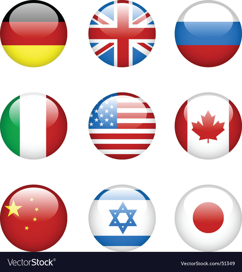 International flags vector | Price: 1 Credit (USD $1)
