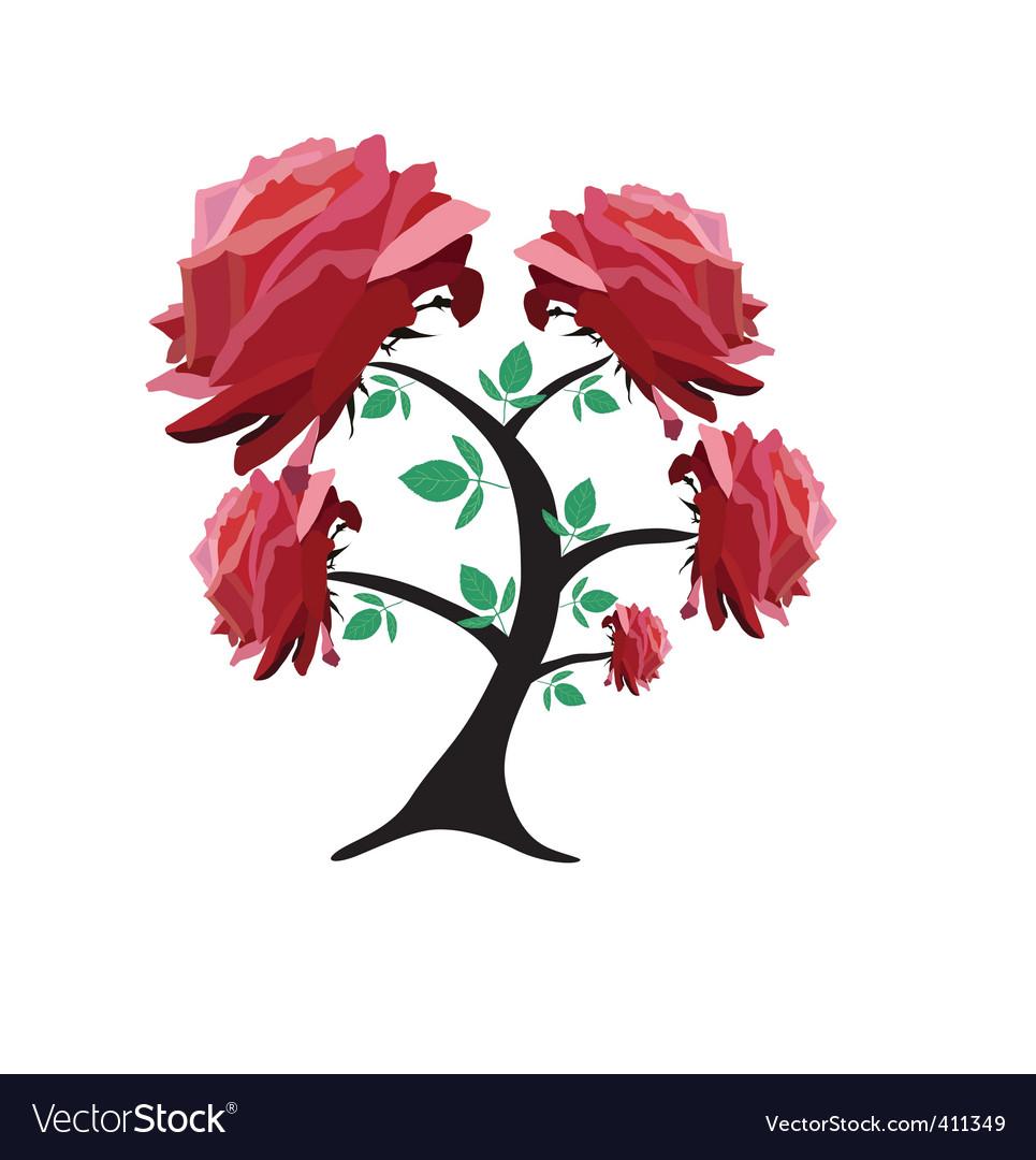 Rose tree vector | Price: 1 Credit (USD $1)