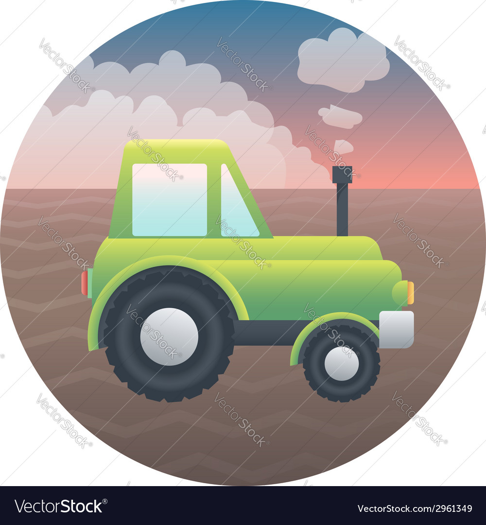 Tractor detailed vector | Price: 1 Credit (USD $1)